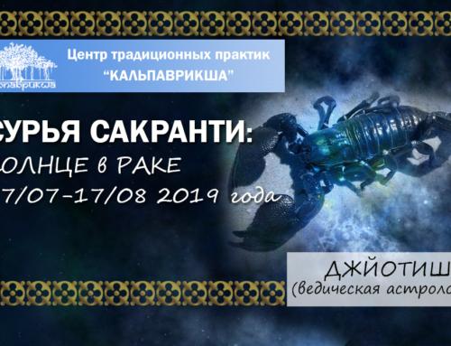 Сурья сакранти: переход Солнца из Близнецов в созвездие Рака.